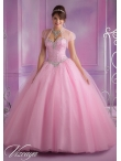 Discount Pretty Appliques Beading Sweet 15 Dress in Rose Pink For 2014 MLER077