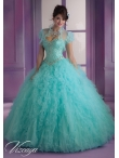 Discount Pretty Beading and Ruffles 2014 Quinceanera Dresses in Mint MLER062