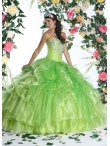 Discount Spring Green Quinceanera Dress with Appliques and Ruffles DVIC014