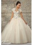 Discount 2015 Luxurious Sweetheart Ivory Quince Dress with Appliques MRLE014