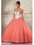 Discount 2015 Wonderful Beading and Appliques White and Coral Red Quinceanera Dress MRLE005