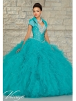 Discount Exquisite Turquoise Quinceanera Dress with Beading and Ruffles for 2015 MRLE016