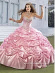 Discount Customize Beading and Pick Ups Baby Pink Quince Dresses in Baby Pink MASY011
