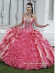 Discount Popular Pink Quinceanera Dresses with Beading and Ruffles MASY003