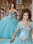 Discount Beautiful Beading Sweetheart 2015 Quinceanera Dresses in Aqua Blue MRYS020