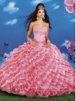 Discount Modest 2015 Sweetheart Quinceanera Dresses with Beading and Ruffled Layers MRYS027