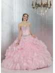 Discount On Sale Summer New Style Baby Pink Sweetheart Beaded Quinceanera Dresses DIVC008