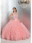Discount Pretty Straps Beaded On Sale Summer Quinceanera Dresses in Baby Pink DIVC012
