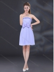 Discount 2015 Lavender A Line Strapless Dama Dress with Bowknot BMT026A