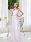Discount Elegant  Empire Ruching Dama Dresses in White BMT025A