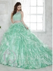 Discount Most Popular Beaded and Laced Bodice Ruffled Detachable Quinceanera Dress in Apple Green