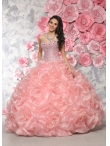 Discount New Style Pink Quinceanera Dress with Beading and Pick Ups