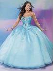 Discount Feminine Baby Blue Really Puffy Quinceanera Dress with Beading MSRY033