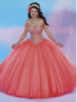 Discount New Style Coral Red Big Puffy Quinceanera Dress with Beading MSRY037